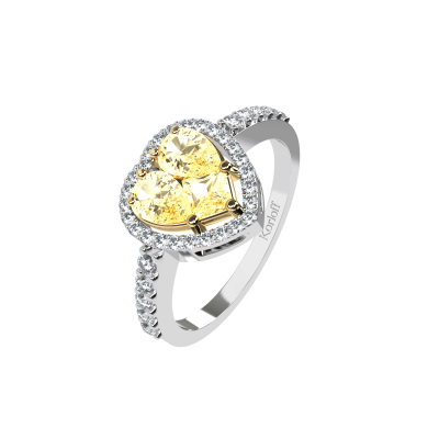 LUMIERE heart ring